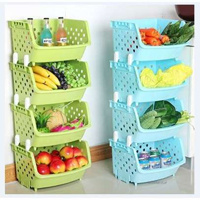 4 Tier Fruit/Vegetable Basket/Rack Plastic Fruit Storage image 1