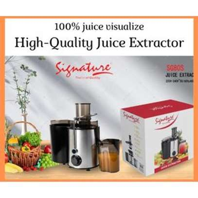 Signature Heavy Duty Electric Juice Extractor- Stainless Steel 400 W image 1