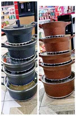 Granite coated cookware set image 2