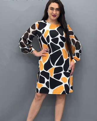 Trendy print shift dress from Turkey image 1