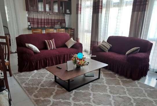 5 seater maroon Turkey sofa covers image 1