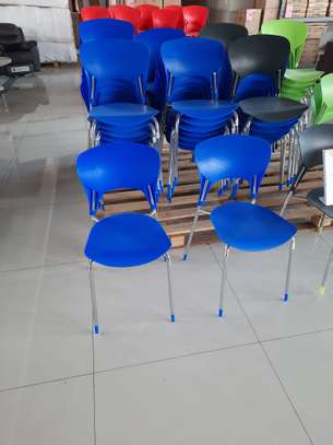 Armless Stackable PVC Chairs image 2