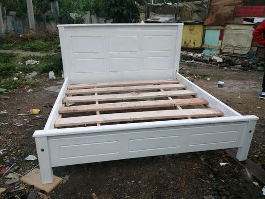 6 by 6 Mahogany bed white image 4