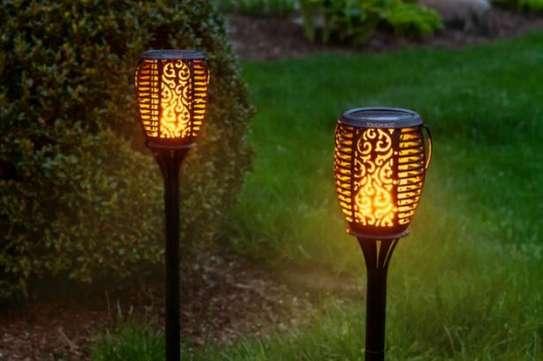 Solar Flickering Flame Garden Torch image 1
