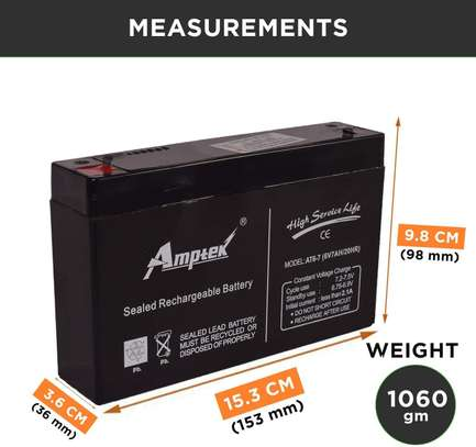 6v7ah rechargeable battery image 1