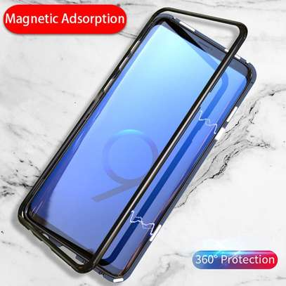Magnetic Luxury Absorption Cases For Samsung Note 9 Clear Back Glass image 7