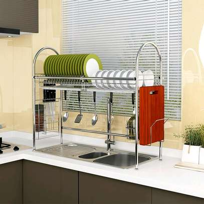 *Multifunction Stainless steel Kitchen Dish Drying Rack* image 1