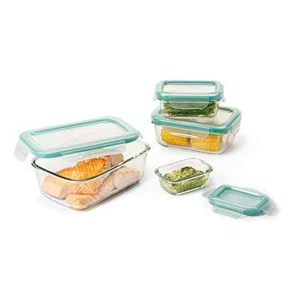 4piece glass storage with lids 400ml,630ml,1000ml,1480ml image 3