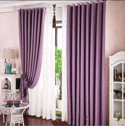 Linen Curtain(purple) image 1