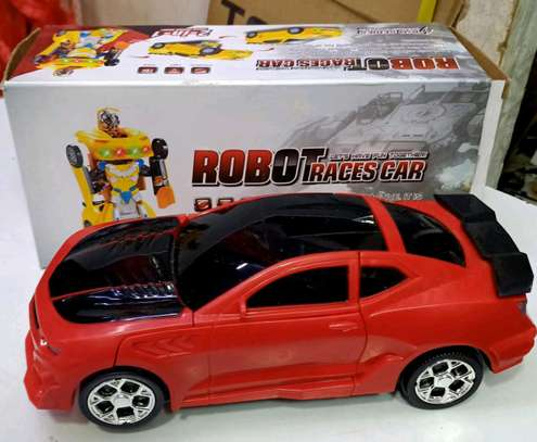 Robot Convertibe toy car image 1