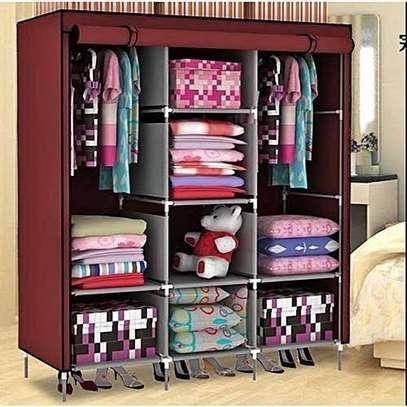 wardrobe wooden 3c portable image 1