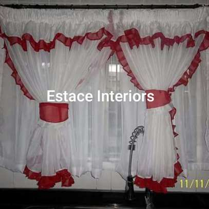 BEAUTIFUL COLOURFUL KITCHEN CURTAINS image 1