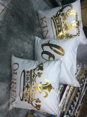 Gold Coated Throw Pillows image 8