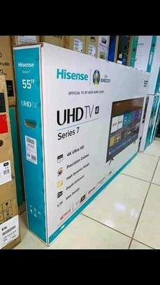 55 inch Hisense Smart UHD 4K televisions image 1