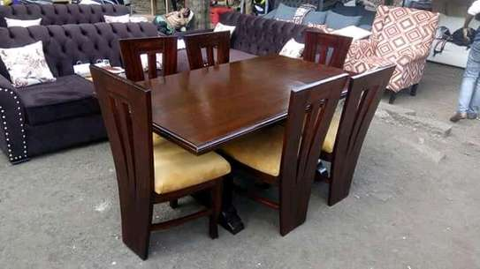 Beautiful Modern Quality Mahogany 6 Seater Dining Table image 4