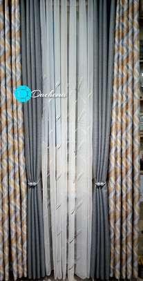 elegant grey customized double-sided curtains image 1