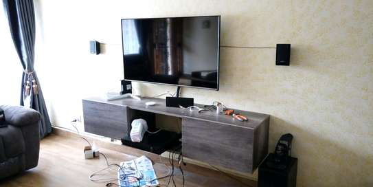 Functional floating TV stand image 4