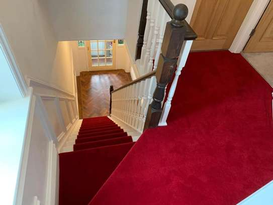 RED WALL TO WALL CARPETS 4MM THICKNESS image 1