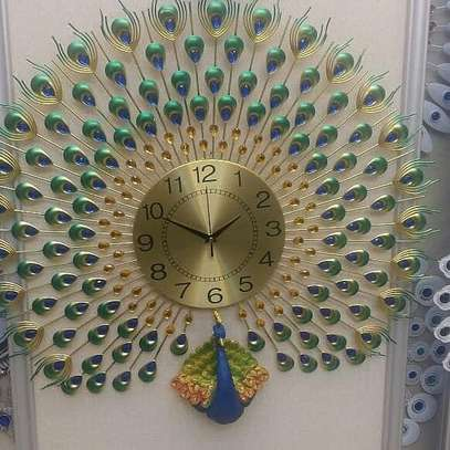 wall clock Peacock image 2
