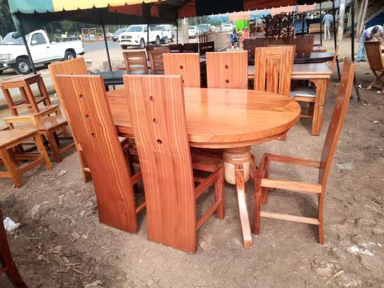 OVAL 6 SEATER DINING TABLE image 1