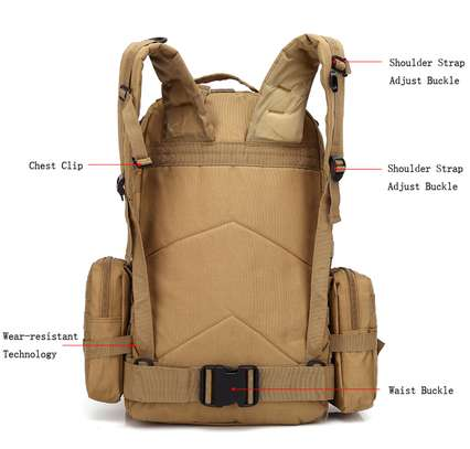 Military Bag 55L-Tactical Bag/Trekking/hiking/camping/Traveling bag image 12