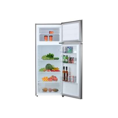 MIKA Refrigerator, 201L, Direct Cool, Double Door, Stainless Steel image 1