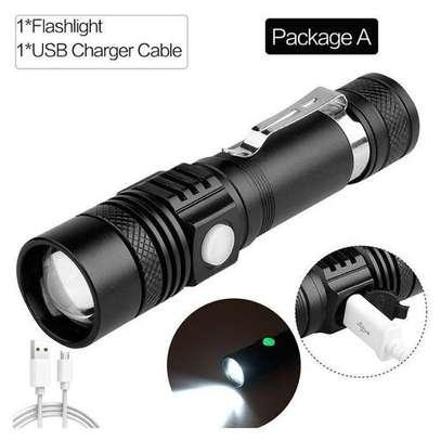 Powerful led camping metallic pocket torch image 1