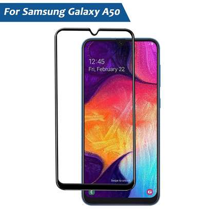 5D HD Clear Tempered Glass Front Screen Protector for Samsung A50 image 2