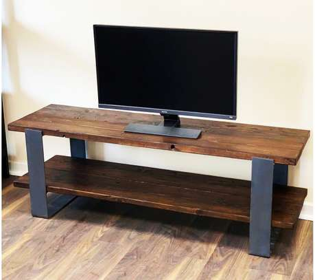 Stylish Metal and Wood TV stand image 1