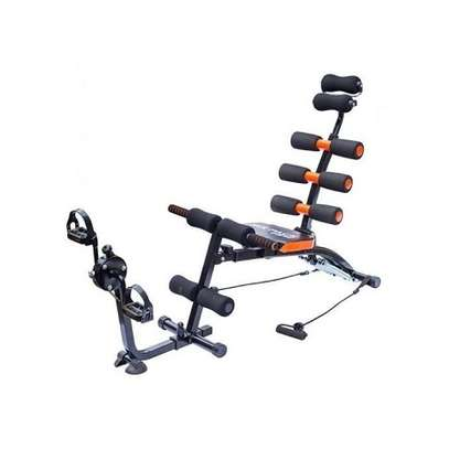 Abdominal Six Pack Care Bench With Pedals- Black and Orange