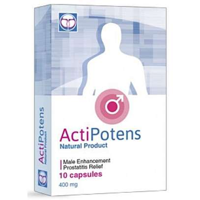 ActiPotens Natural Male Enhance - 10 Capsules 400mg image 2