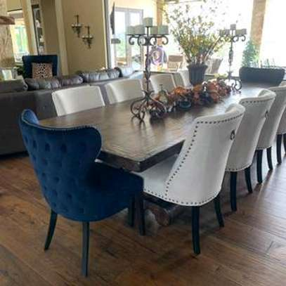Eight seater dining table for sale in Nairobi Kenya/tufted dining chairs for sale in Nairobi Kenya/rectangular dining tables for sale in Nairobi Kenya image 1