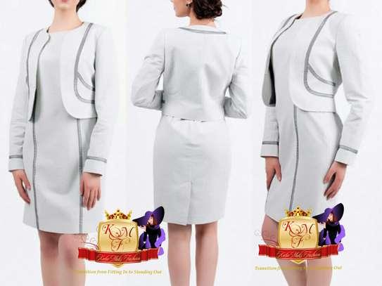 SALE: Classic Cut Mini Suit Dress Made in UK image 1