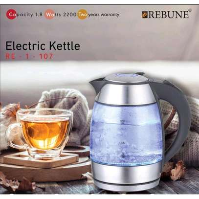 Rebune illuminating electric cordless kettle image 1