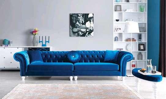 English sofas/blue chester sofas/four seater sofa image 1