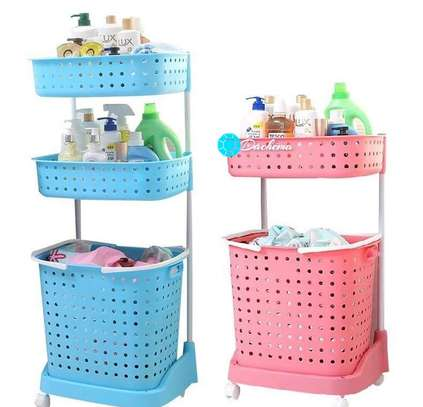 laundry basket on wheels image 1