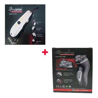 Progemei GM-1021 Hair Clipper + Free Rechargeable Smoother