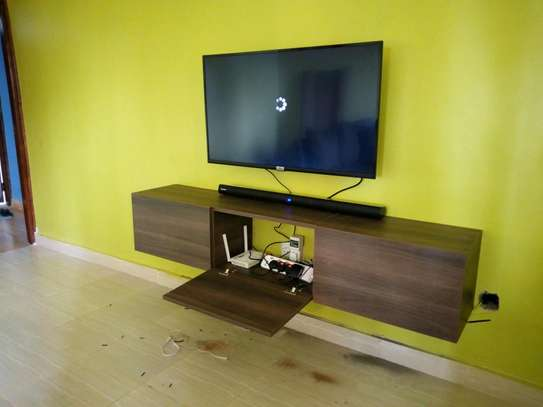 Functional floating TV stand image 2
