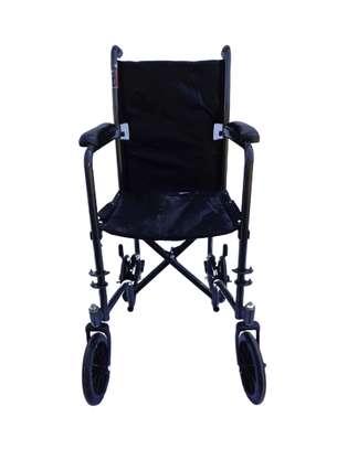 Lightweight folding travel wheelchair image 1