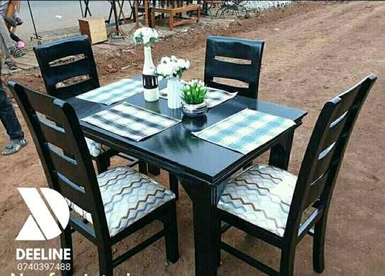 5 Piece Mahogany Framed Dining Table Sets. image 1