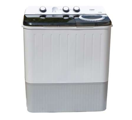 Washing Machine, Semi-Automatic Top Load, Twin Tub, 9Kg, White & Grey image 2