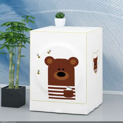 Front Load washing machine cover Bear face image 4