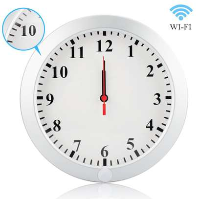 Wall Clock CCTV Camera, Remote View on Phone, WiFi enabled image 1
