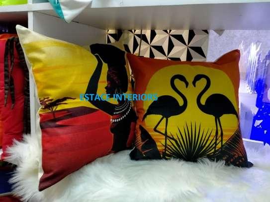 African throw pillow cases/Nairobi image 1