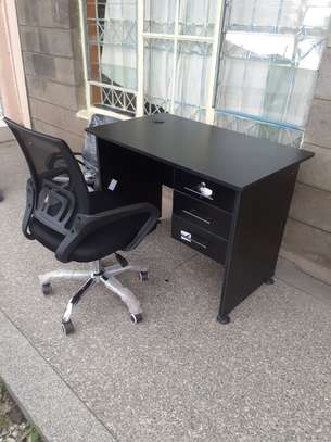 Office Desk 1Meter Black & Chair Ksh. 12,500.00 With Free Delivery image 10