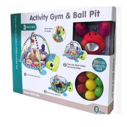 3 In 1 Baby Activity Gym, Play Mat And Ball Pit image 1
