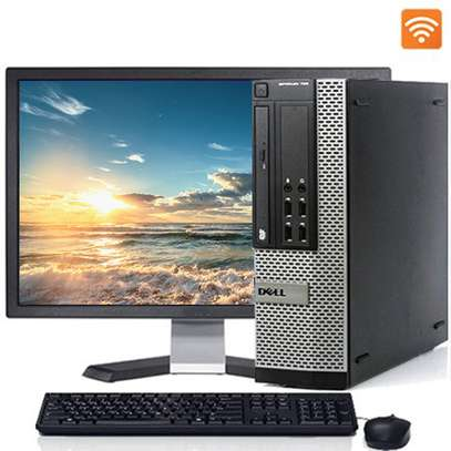 Desktop Computer Dell 4GB Intel Core I3 500GB  complete desktop with  17 inches monitor image 1