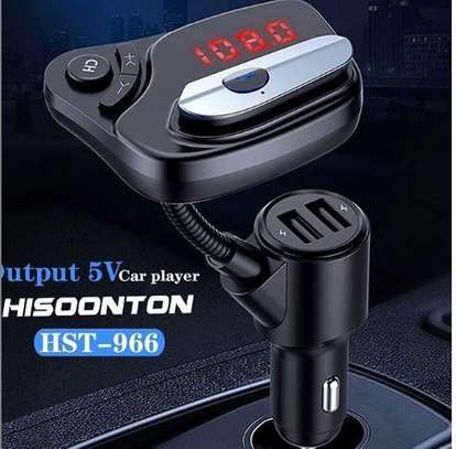 Car modulator with Bluetooth headset and FM radio image 1