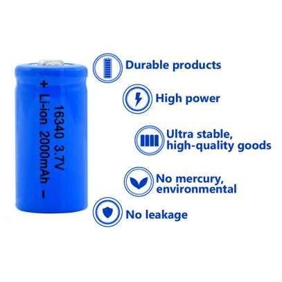 Rechargeable Battery - 16340 3.7V image 1