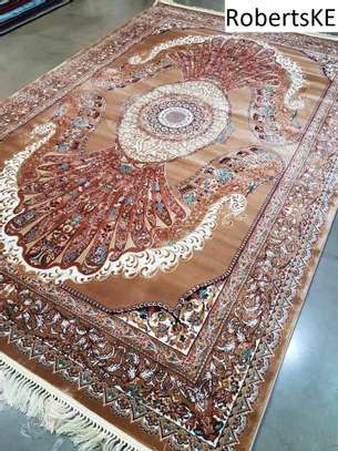 brown patterned persian carpet 5by8 image 1